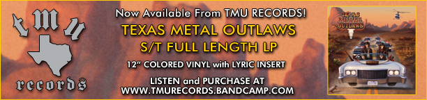 "Texas Metal Outlaws - s/t full length LP - 12"" colored vinyl"