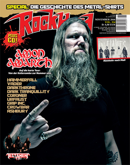 Cover of Rock Hard - November 2016 issue.